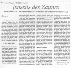 Wiesbadener Tageblatt, 18.02.2013